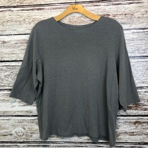 CJ Banks Heathered Gray T-shirt size 3X
